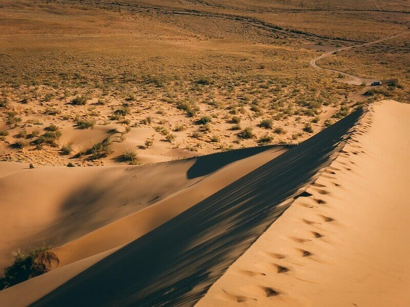 Sand dune in the steppes of Kazakhstan