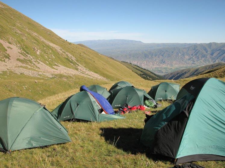 Kyrgyzstan trekking with tents