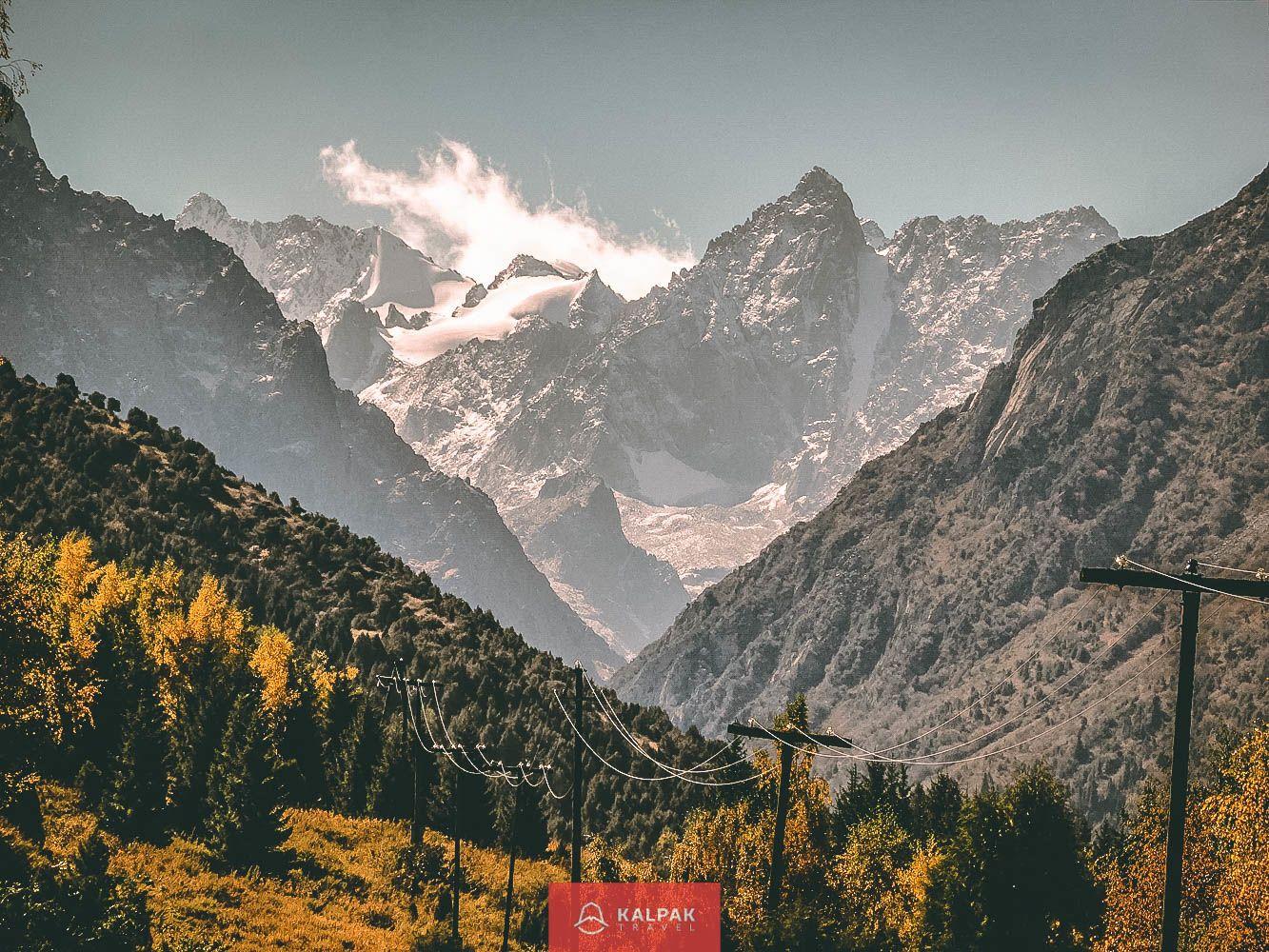 قرقیزستان، کوه ها را برجسته می کند