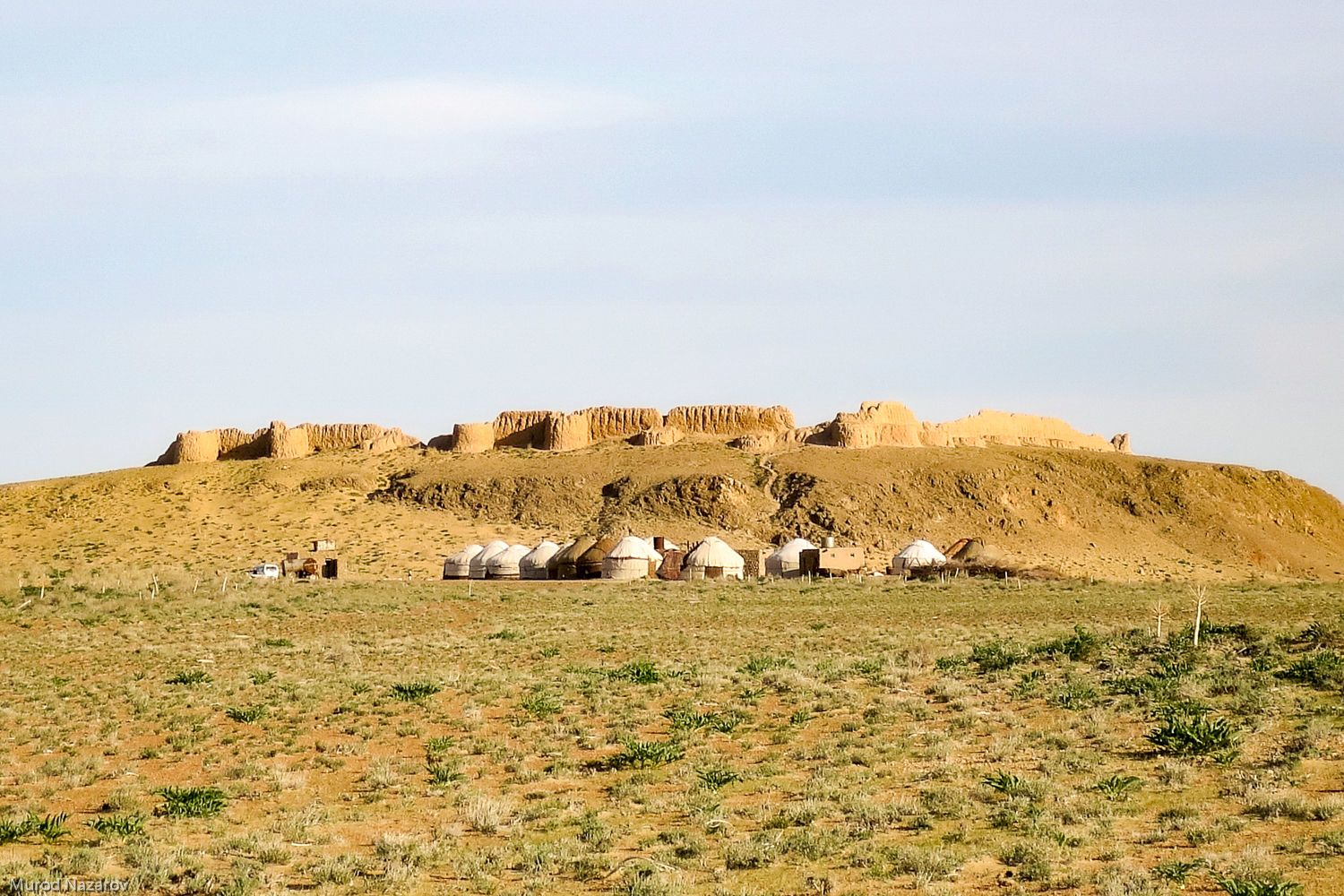 ancient fortress remnants and yurts in uzbekistan travel