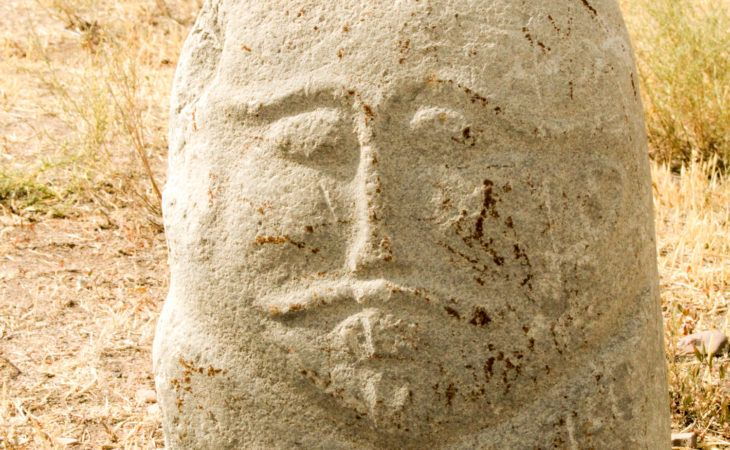Balbal memorial stones in kyrgyzstan tour