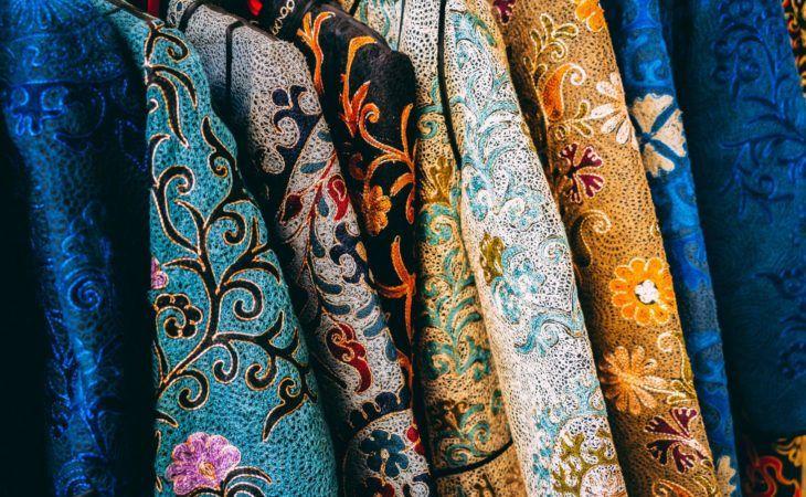 Bukhara bazaar embroidery