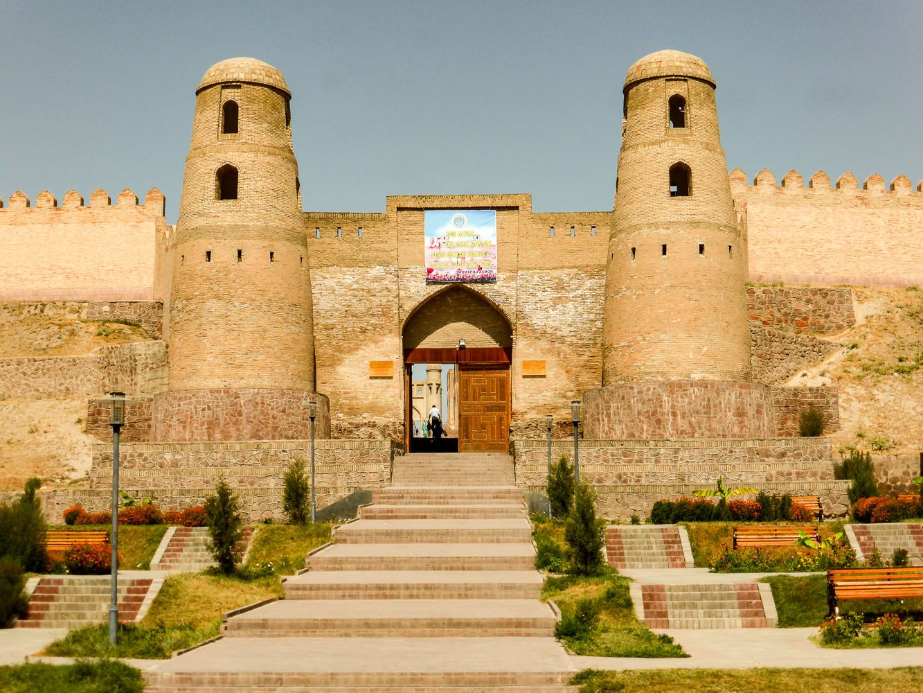 Hisor fortress in Tajikistan seen at the beginning of Fann Mountains Trekking Tour