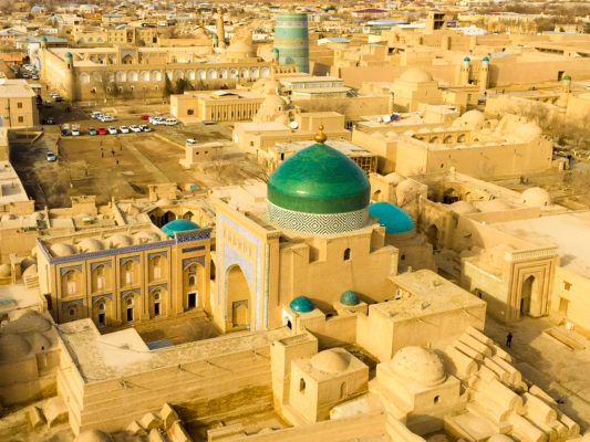 Khiva Travel guide view of the city from the Islam Khodja minaret
