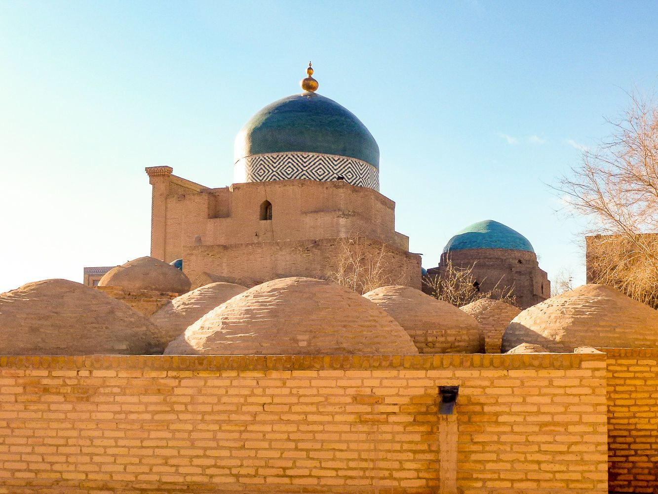 the largest mausoleum in khiva is dedicated to local hero, important cultural monument in Uzbekistan