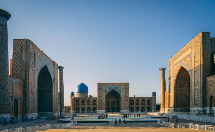 Uzbekistan: Minarets of Registan in Samarkand
