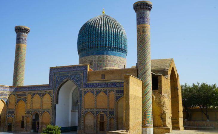 Colour photograph taken in Samarkand