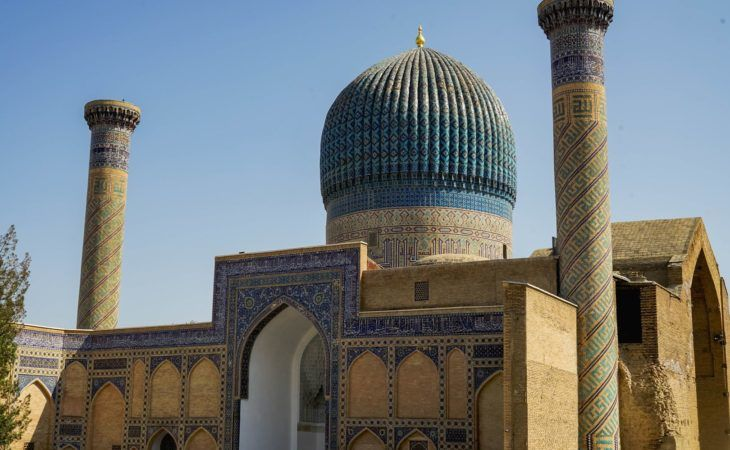 Samarkand Gur Emir- famous buildings Central Asia