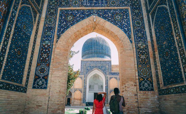 Travelers in Uzbekistan, Gur Amir, Samarkand