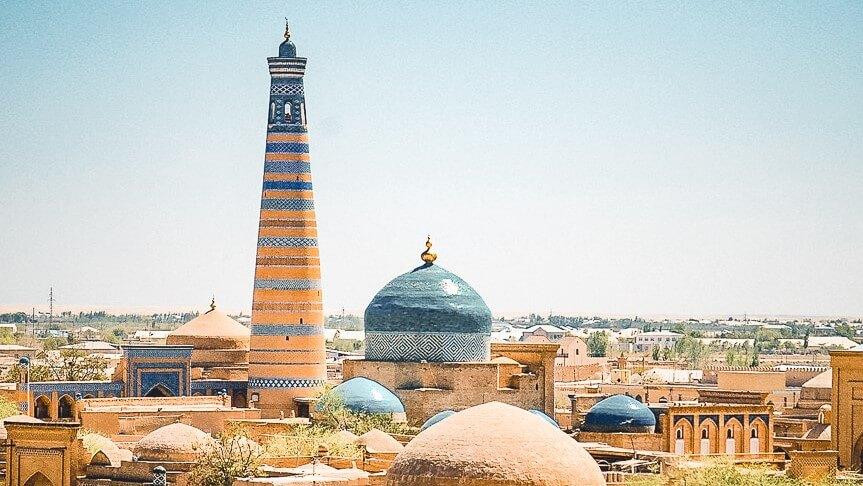 the highest minaret in Khiva, Islam Khoja