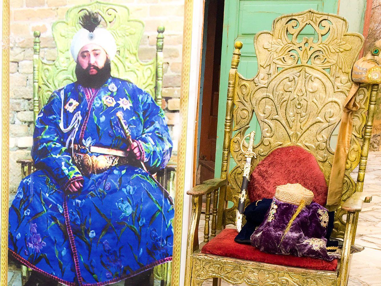 Last emir of Bukhara throne