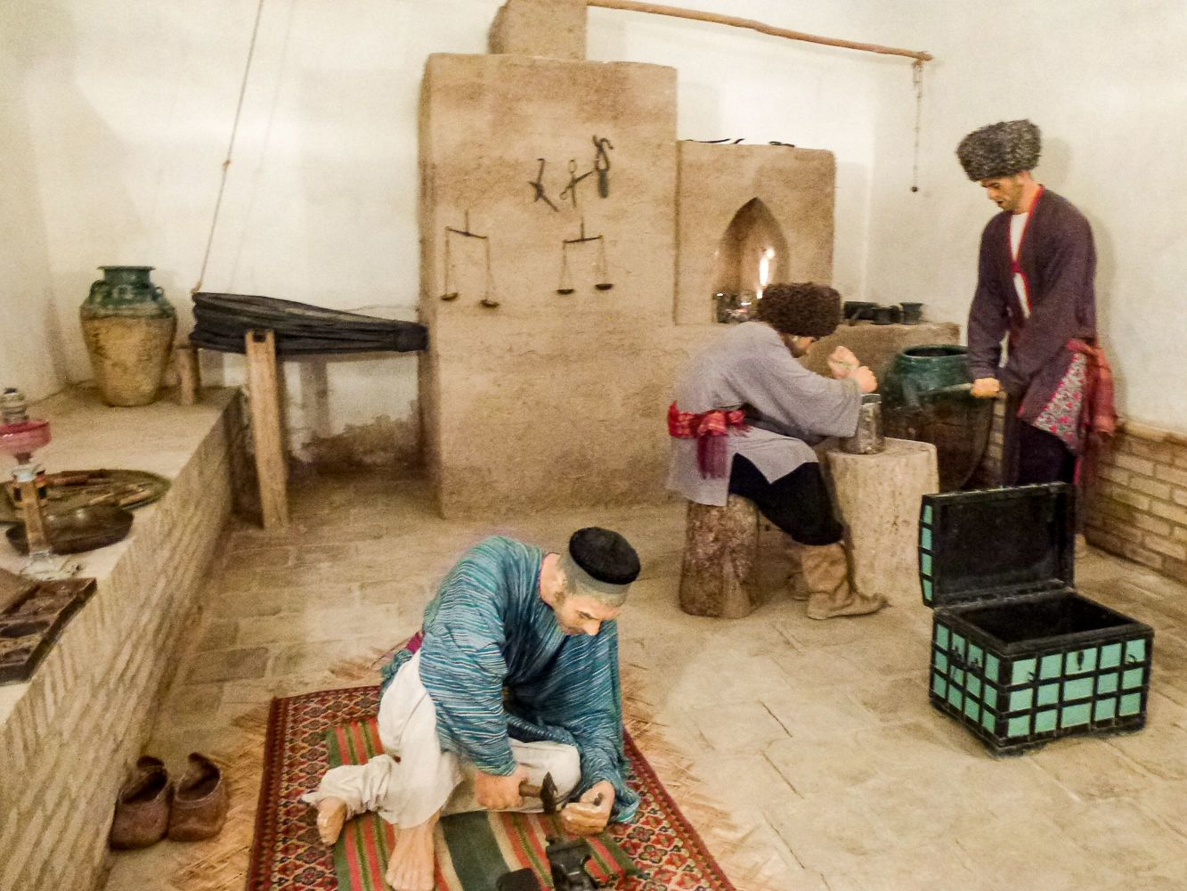 money production imitation in Khiva museum mint