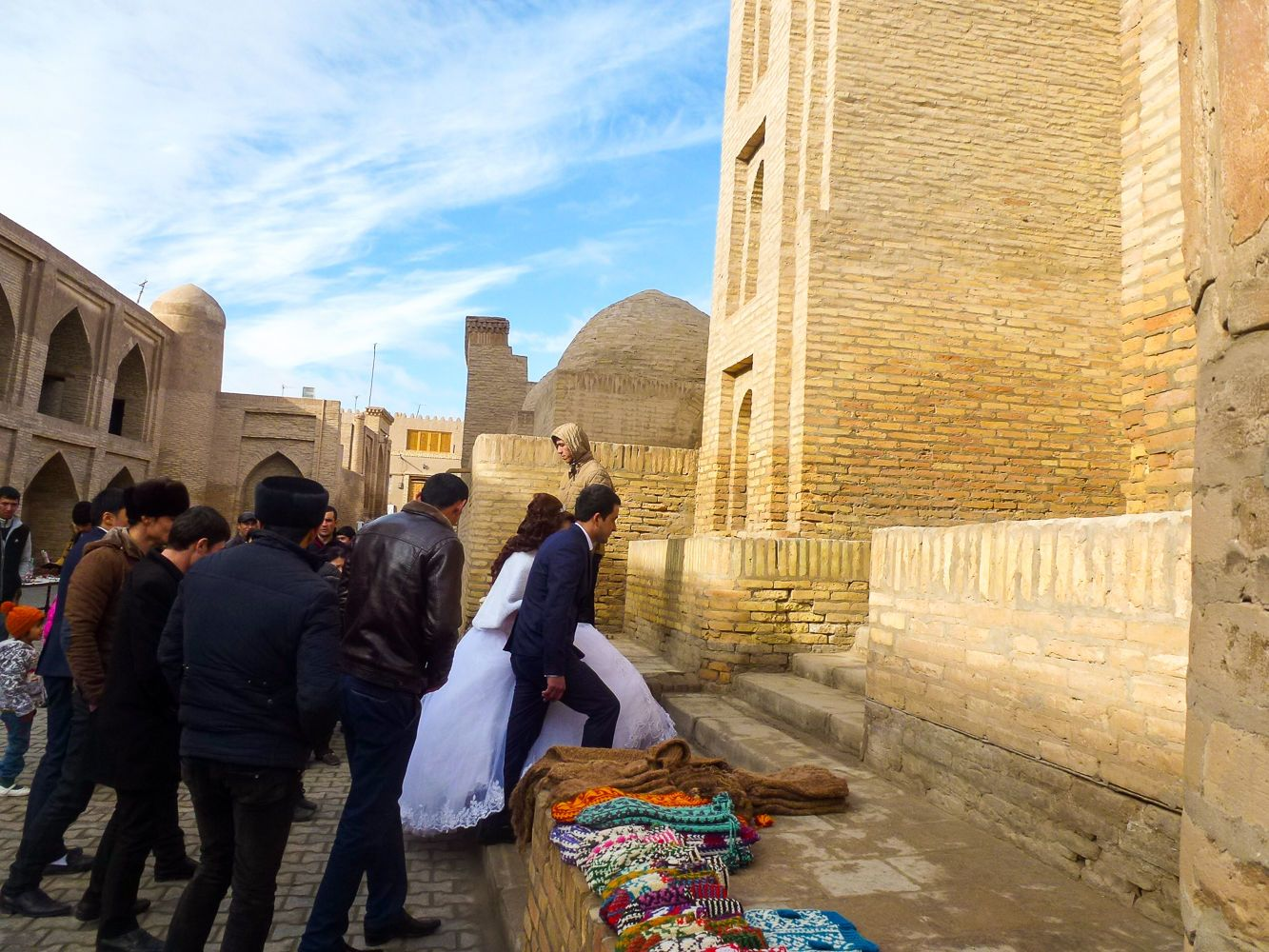 local wedding in Khiva, Uzbekistan
