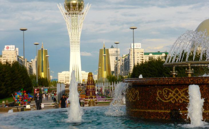 Baiterek in Astana closed during EXPO 2017