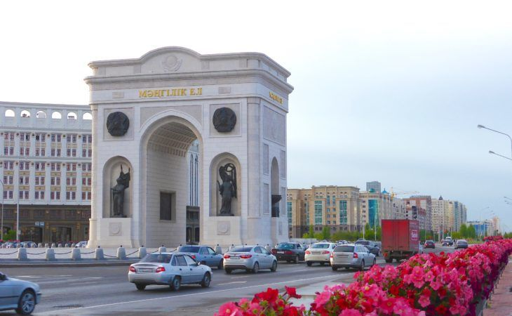 Astana arc de triumph during Expo 2017 tour