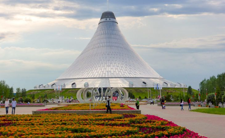 Khan Shaty in Astana during World Expo 2017 tour