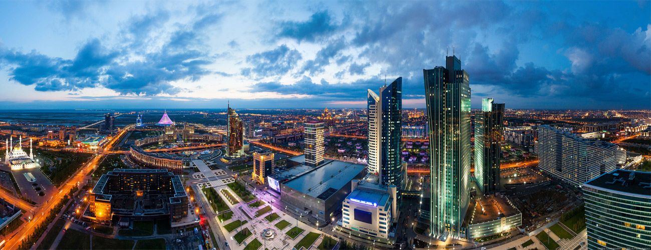 Rooftop view of Astana in Expo 2017