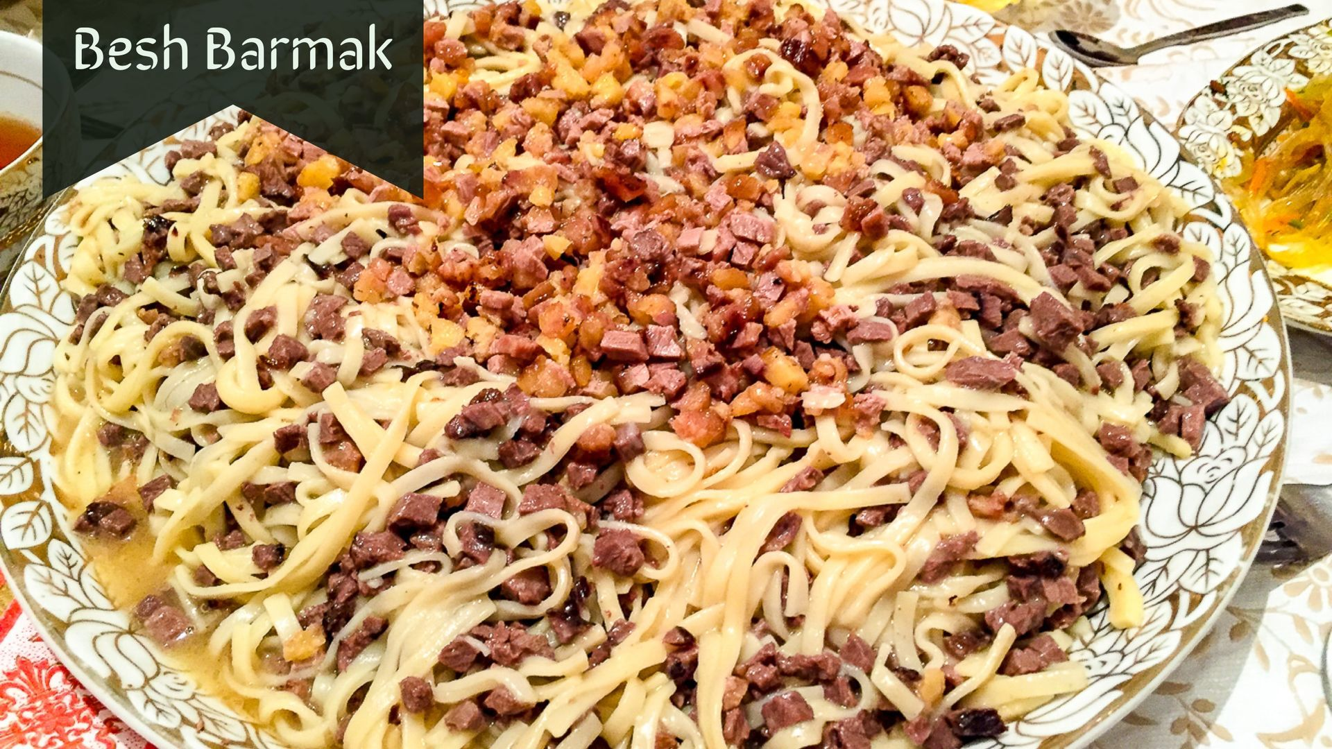 Besh Barmak national dish and cuisine of Kyrgyzstan