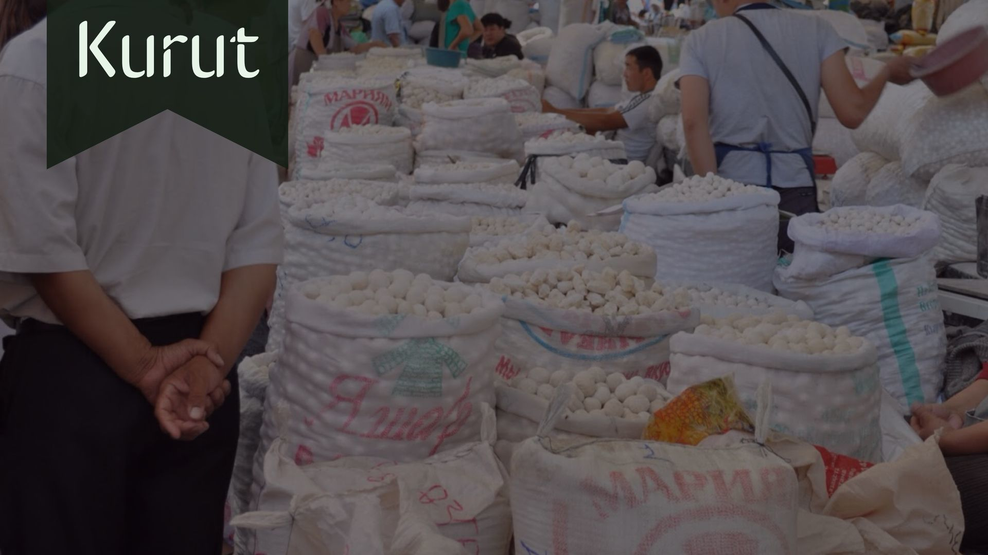 Kurut dairy salty snack of central Asians sold in local bazaars