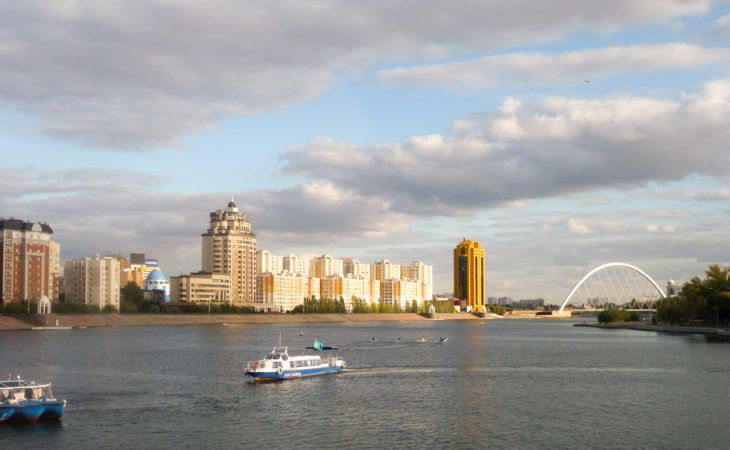 Ishim River in Astana during World Expo 2017 Tour