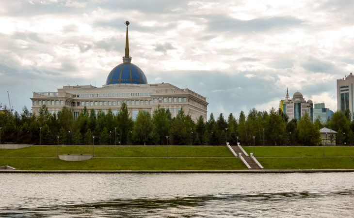 Presidential palace in Astana, by the river during 2017 world expo tour