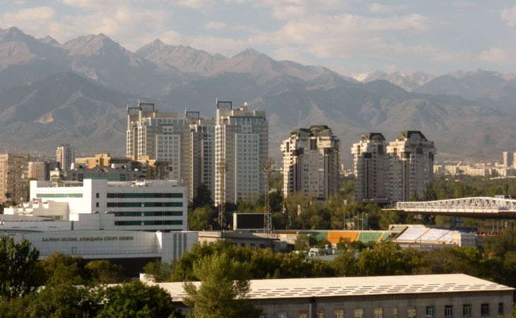 Almaty city view during Expo 2017 Kazakhstan Tour