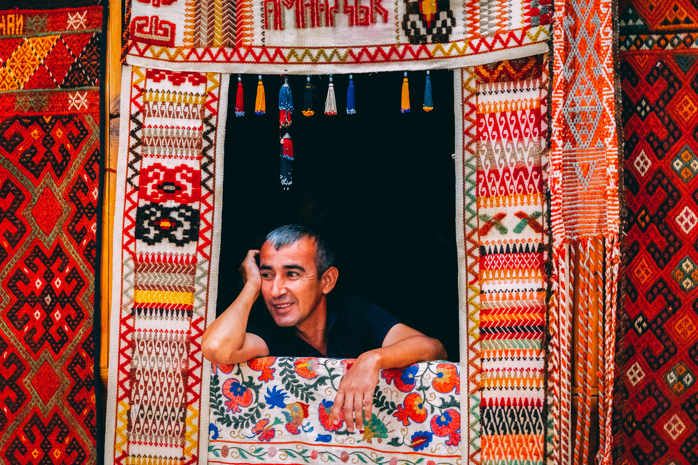 Silk road, trader, merchant, Uzbekistan