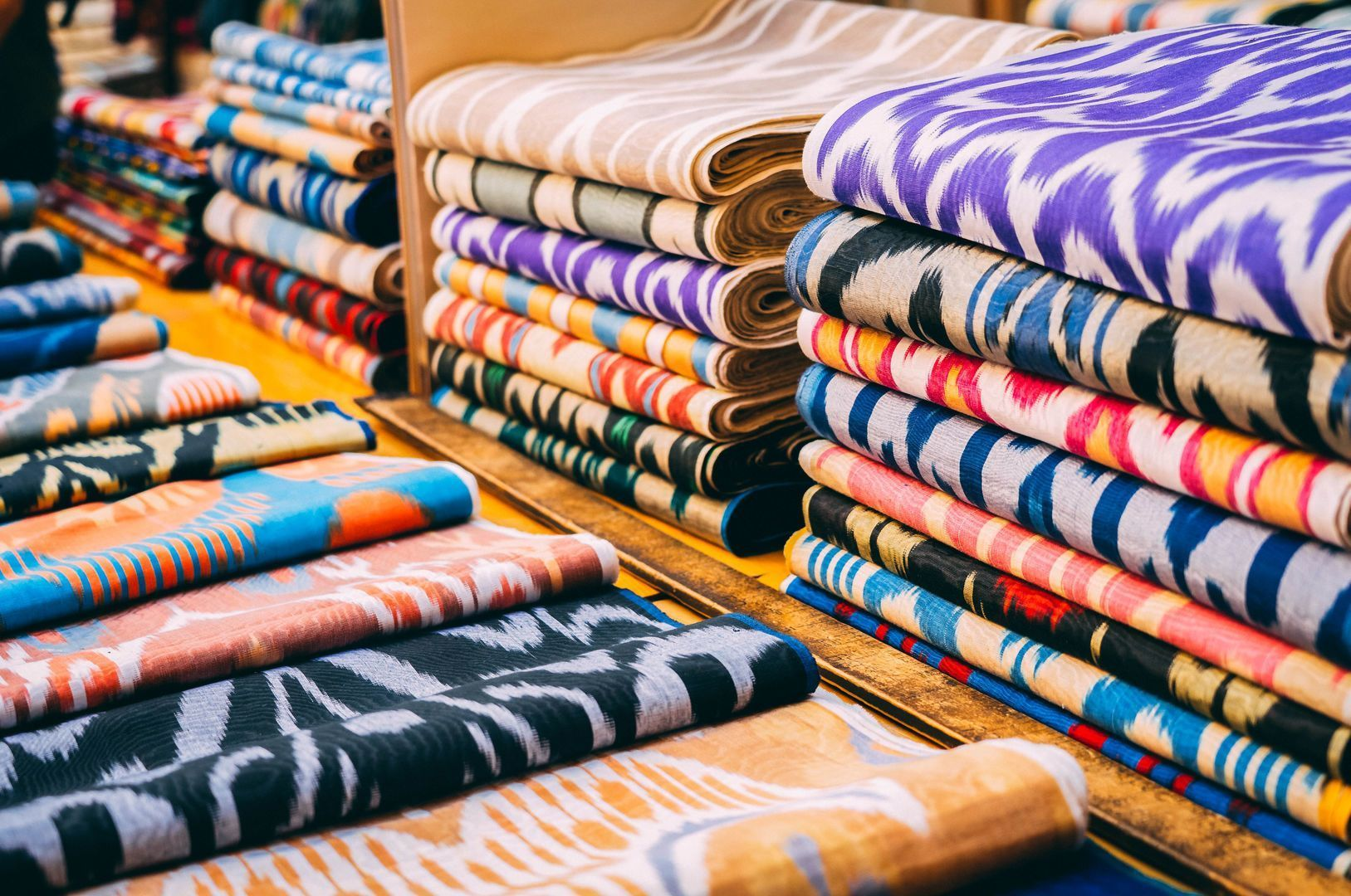 Silk Road, Uzbek silk, Ikat