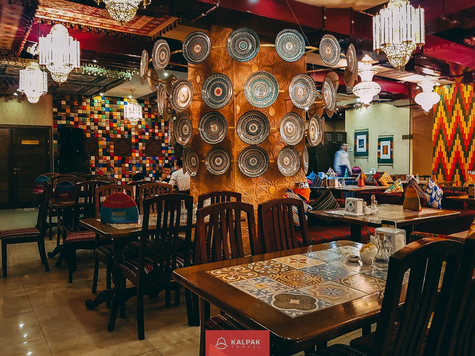 Central Asian restaurant food in Navat