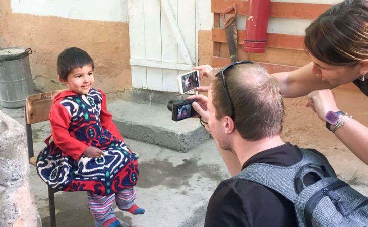 Tajikistan meeting locals