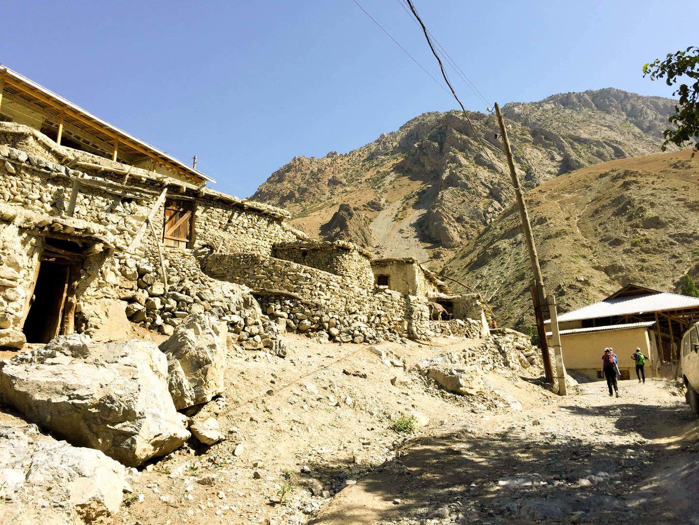Zimtud village in Tajikistan, Fann Mountains
