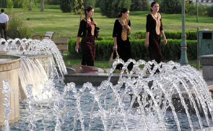 Ashgabat City Tour - Fountain - Turkmenistan
