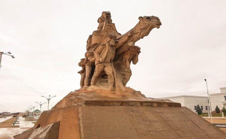 Monument in Balkanabat Turkmenistan