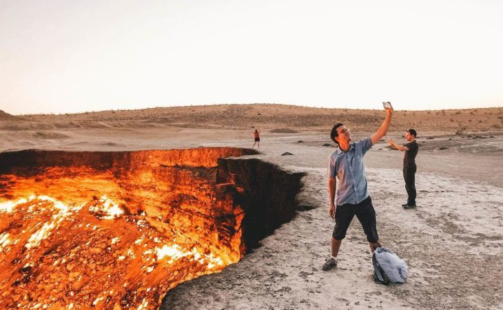 Turkmenistan Tour - Darvaza Burning Gas Crater