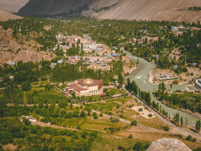 Khorog, botanical garden view, Pamir