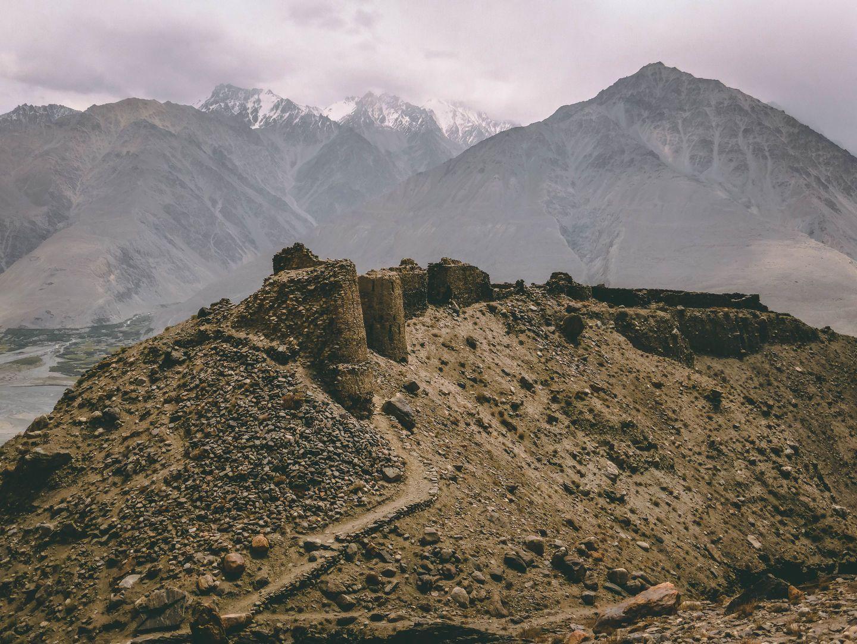 Yamchun fortress in Wakhan valley, Pamir