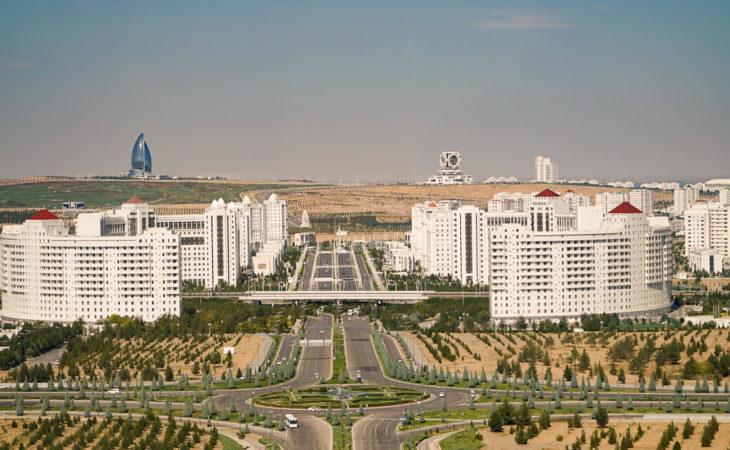 View of Ashgabat in Turkmenistan