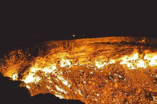Turkmenistan Tour - Darvaza Burning Gas Crater