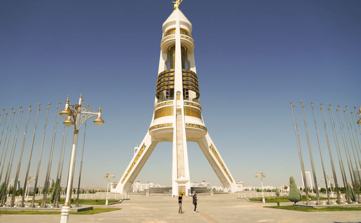 Turkmenistan is full of monuments