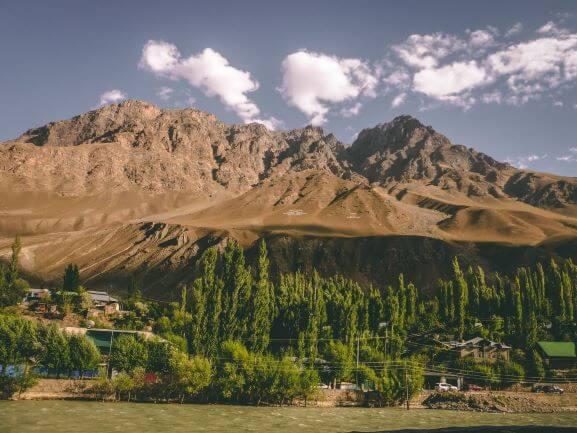 Pamir Highway goes through Khorog