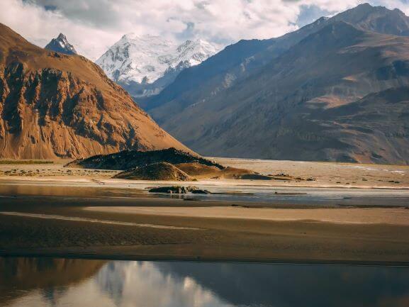 Pamir Highway view in Tajikistan