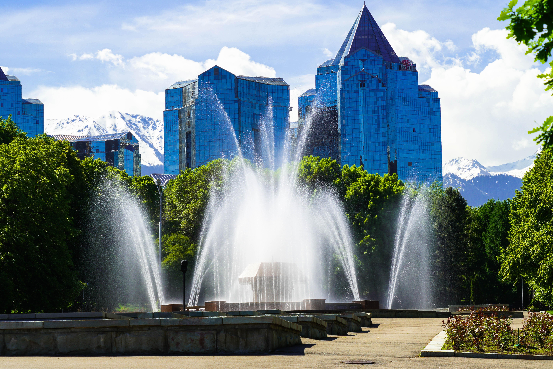 Almaty fountains