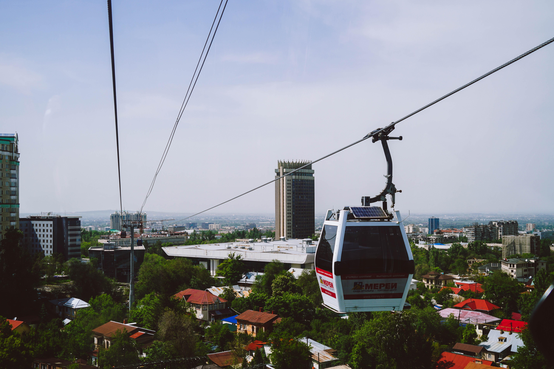 Getting to the top of Kok Tobe on Almaty funicular