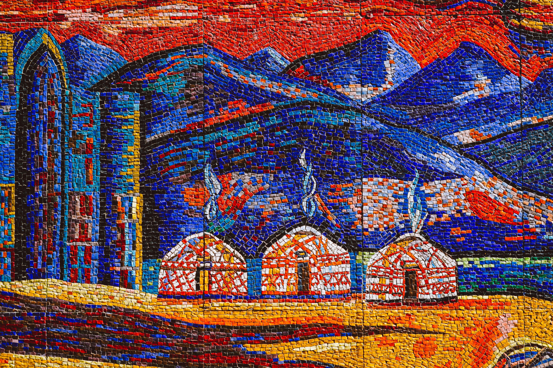 Almaty mosaics at the hotel