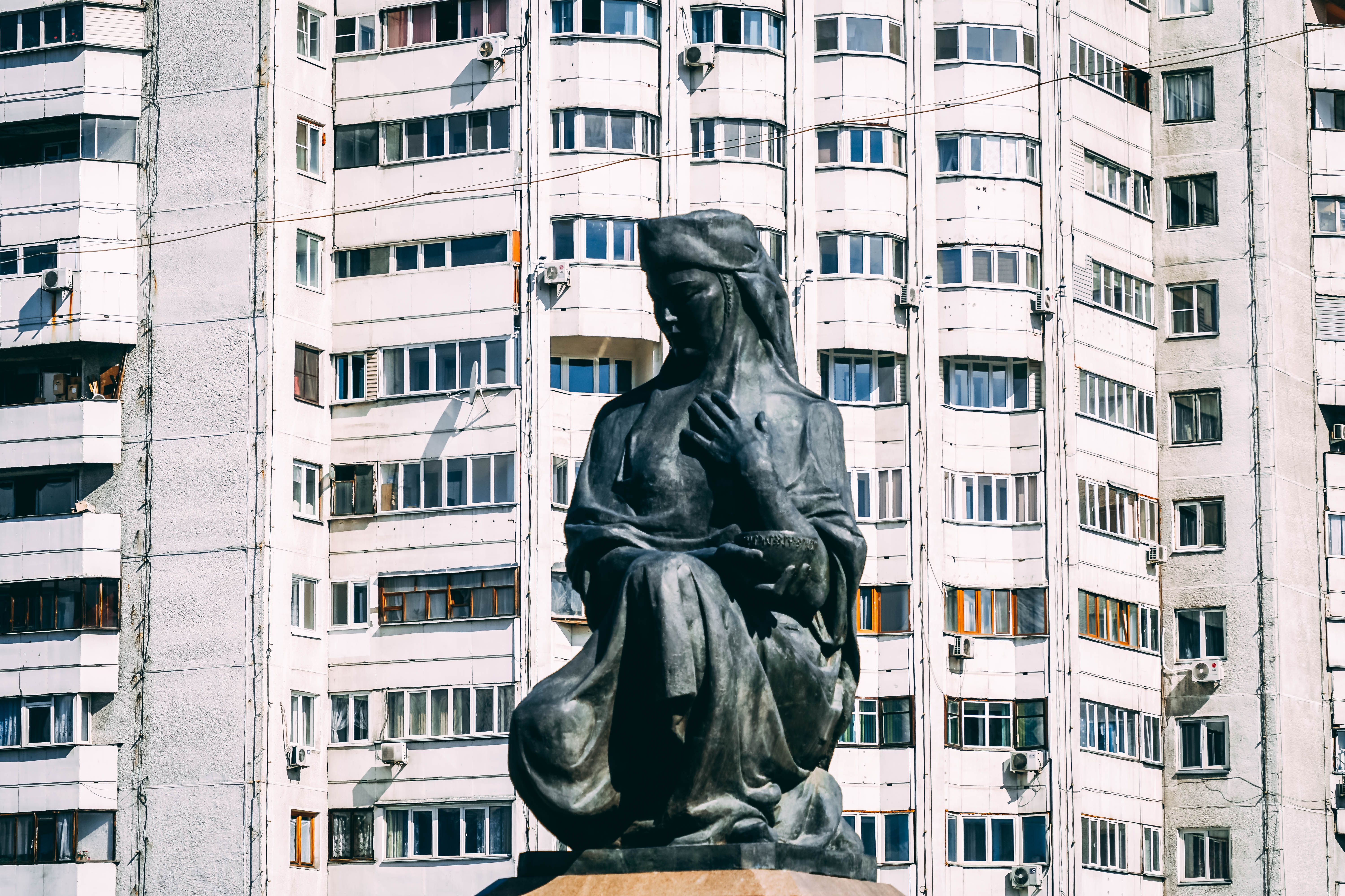 Almaty mother Earth statue