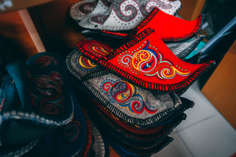 Kazakhstan felt slipper souvenirs bought in Almaty
