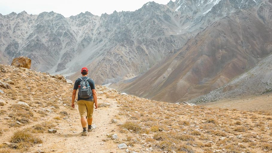trekking in Pamir mountains