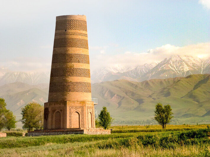 Central Asia Tour in Kyrgyzstan, the view of Burana Tower
