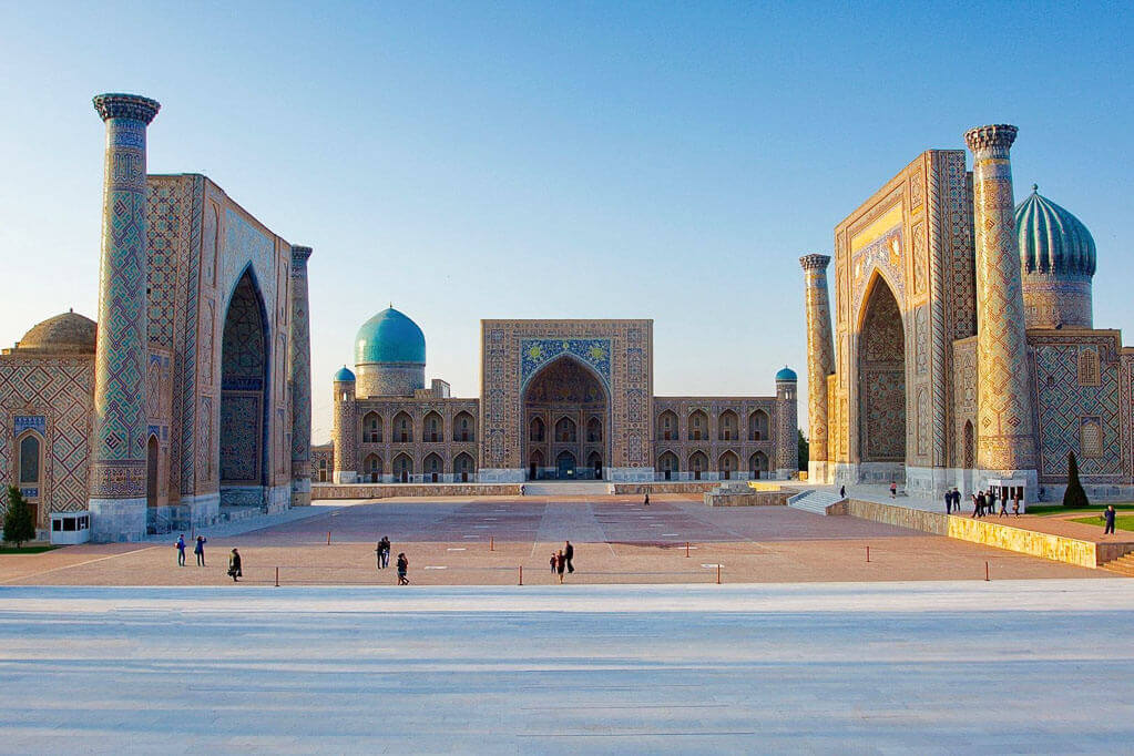 Registan square at Central Asia Trip