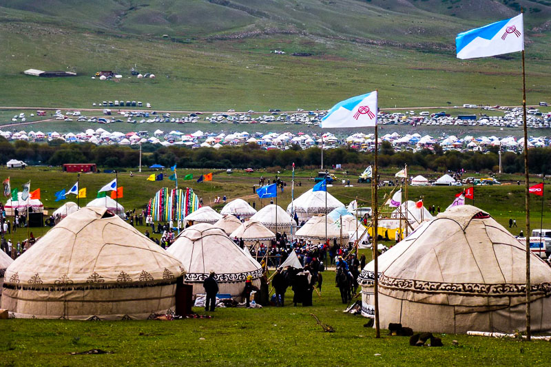 World Nomad Games Kyrchyn gorge with yurt camp